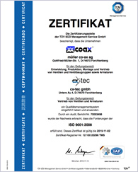 1995 müller co-ax ISO EN 9001:2008 certified and subsequently re-certified every 3 years