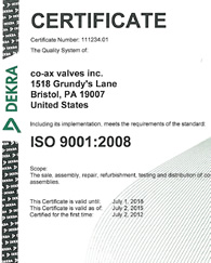 2012 ISO 9001:2008 Recertification